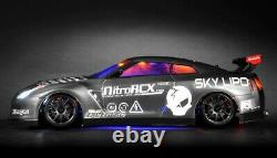 Dépasser Rc 1/10 Madspeed Driftking Brushless Remote Control Drift Car Led Sk Grey