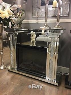 Diamond Glitz Crystal Mirror Foyer Électrique Manteau Manteau Manteau Manteau