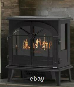Dimplex Beckley Optimyst 2kw Electric Stove Fire Black Real Flame Télécommande