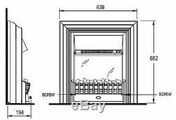 Dimplex Cheriton Autoportant Optiflame Électrique Feu Noir / Brass Réel Coals