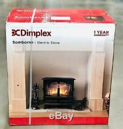Dimplex Somborne Smb20 2kw Électrique Flamme Effet Poêle Noir Mat Télécommande