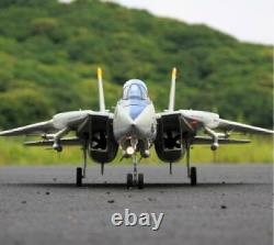 Dual 80mm Rc Avion Jet Modèle F-14 Tomcat Kit Avec Servomoplan Pour Adultes Nouveau