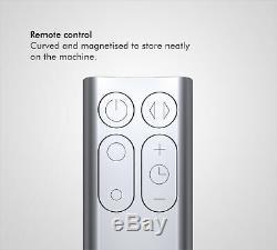 Dyson Am06 Rafraîchissez Bureau Ventilateur Blanc / Argent Réformé 1 An De Garantie
