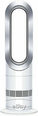 Dyson Am09 Hot+cool Jet Focus Ventilateur Chauffe-vent Blanc/argent Prix De Vente Conseillé 500 £+
