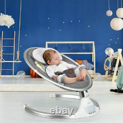 Electric Baby Rocker Bouncer Swing Chair Cradle Mosquito Net Télécommande