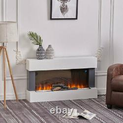 Electric Fires Wall Mounted Led Fireplace Surround Fire Suite Set With Wifi 2kw