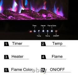 Électrique 405060 Insert / Mural Mur Led Cheminée Encart 9 Flamme Couleur Royaume-uni
