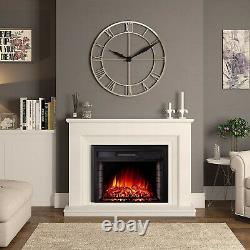 Électrique Fireplace Widescreen Tempered Glass Wall Heater Effet De Flamme Led