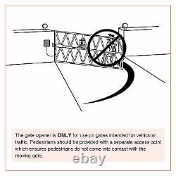 Électrique Swing Gate Opener Avec Télécommande Kit Complet Single Arm Opener