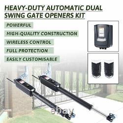 Électrique Swing Gate Opener Pull Gate Avec Télécommande Kit Complet 300k#