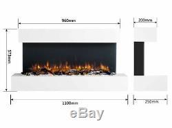 Endeavour Allume Le Feu Électrique Mural Runswick 220 / 240vac 50 Hz 1 & 2kw
