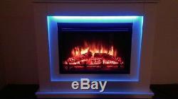 Endeavour Fires Castleton Electric, Un Foyer En Mdf Blanc Cassé
