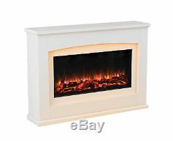 Endeavour Fires Danby Electric Fireplace Dans Une Suite De Feu En Mdf Blanc Cassé