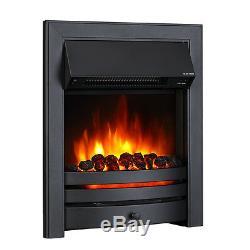 Endeavour Fires Roxby Inset Fire, Garniture Et Bordure Noires, Télécommande