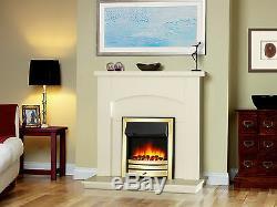 Endeavour Fires Roxby Inset Fire, Garniture Et Frette En Laiton, Télécommande