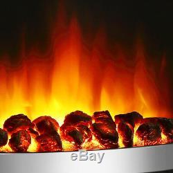 Endeavour Fires Roxby Inset Fire, Garniture Et Manche En Chrome, Télécommande