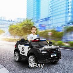Enfants Électriques Tour Sur La Voiture De Police 12v Suv Avec Télécommande De Contrôle Parental Clignotant