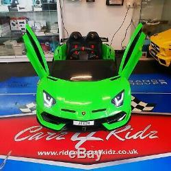 Enfants Lamborghini Aventador Svj Electric Ride Sur La Voiture Télécommande