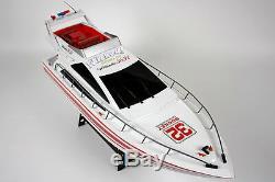 Énorme Rc Heng Long Radio Télécommande Twin Motor Yacht Atlantique Bateau À Voile