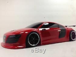 Entièrement Personnalisée 1/10 Échelle De Contrôle À Distance Sur Route Drift Voiture Audi R8 Red Rc Car