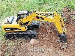 Excavatrice Fonctionnelle À Télécommande De Rc Du Canal 2.4ghz De Canal De Construction