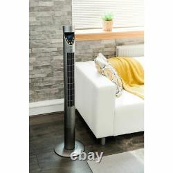 Fan Oscillant La Tower Avec Contrôle De L'émote 43/47 Temporaire 50w Cooling Slim 3 Speeds