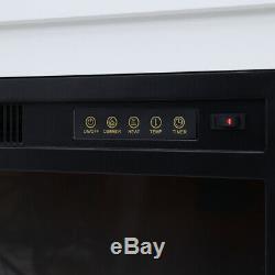 Feu Électrique Encart Chauffage Cheminée Avec Télécommande Blanche 2kw Mantel En Bois
