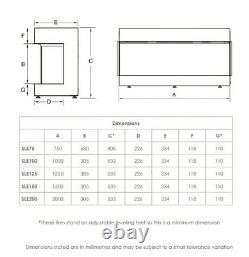 Feu Électrique Sf1500 60large -1/2 Ou 3faces Feux Muraux En Verre