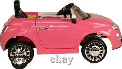 Fiat 500 Électric Ride On Car Avec La Télécommande Parentale Brand New