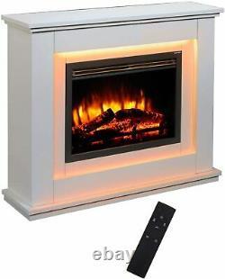 Fires Castleton Electric Fire Inset Fireplace Heater + Télécommande 7 Couleur