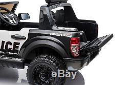 Ford Ranger Police Licensed 12v Enfants Ride On Électrique Télécommande De Voiture