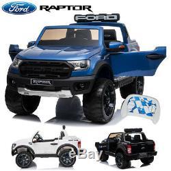 Ford Ranger Raptor Licensed 12v Enfants Ride On Électrique Télécommande De Voiture