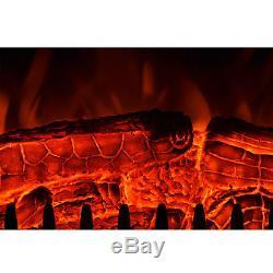 Foyer Électrique De Luxe 2kw Chauffe-flammes À Flammes Pour Cheminée À Bois + Manteau D'ambiance