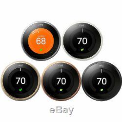 Google Nest Learning Thermostat Intelligent Wifi (3ème Génération) Choisir La Couleur
