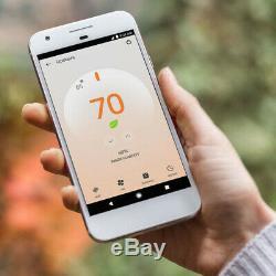 Google Nest T4000es Thermostat E (blanc) Avec 2 Pack Wi-fi Smart Plug