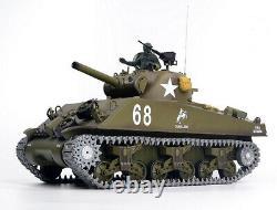 Heng Long 6,0 V Radiotélécommande Rc 2.4g Réservoir M4a3 Sherman 1/16 Bb & Ir Uk
