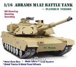 Heng Long Abrams M1a2 Réservoir Rc Télécommandé 1/16 Grand - Platine