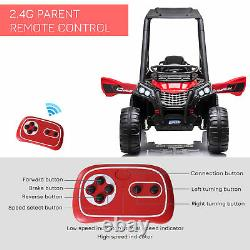 Homcom 12v Kids Electric Ride On Car Off-road Utv Toy Remote Control Black
