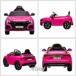 Homcom Audi Rs Q8 6v Enfants De Course Électrique Sur Voiture Jouet Avec Télécommande Rose