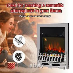 Homcom Électrique Cheminée 1 & 2kw Led Télécommande D'incendie