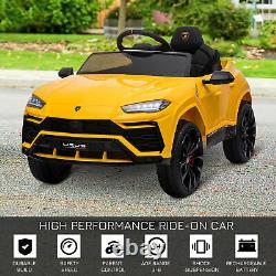Homcom Lamborghini Urus 12v Kids Electric Ride On Car Toy With Remote Control