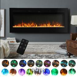 Insert D'incendie Électrique De 60 Pouces / Cheminée Munie D'un Support Cristal 9 Flammes De Couleur