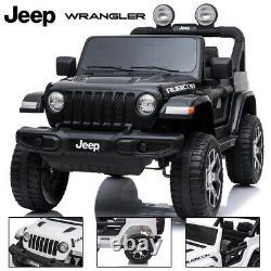 Jeep Wrangler Rubicon Licensed 12v Enfants Ride Sur Voiture De Télécommande Électrique 2.4g