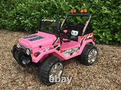 Kids 12v Drifter Électric Ride On Car 4x4 Jeep 2-seats Télécommande Pink