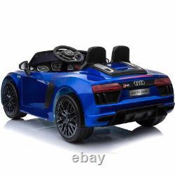 Kids Electric Ride On Car 12v Audi R8 Modèle Et Télécommande Parentale Bleu