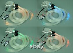 Kit De Lumières Bricolage En Fibre Optique 600 Scintillement Étoile Plafond 3m Pmma Télécommande Rgbw