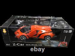 Lamborghini Veneno Style Rc Radio Remote Control Speed Toy Car 110scale Orange