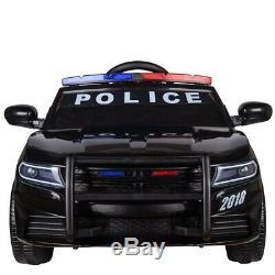 Le Tour Électrique 12v D'enfants Sur La Voiture De Police De Batterie Avec À Télécommande Parentale