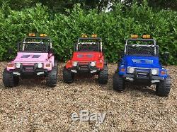 Le Tour Électrique Des Enfants 12v Sur Le Camion De La Voiture Jeep 4x4 / 2 Places / 2.4g À Télécommande