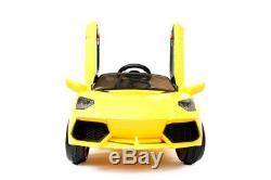 Les Enfants De Style De 12v Lamborghini Montent Sur La Télécommande De Batterie Électrique De Voiture